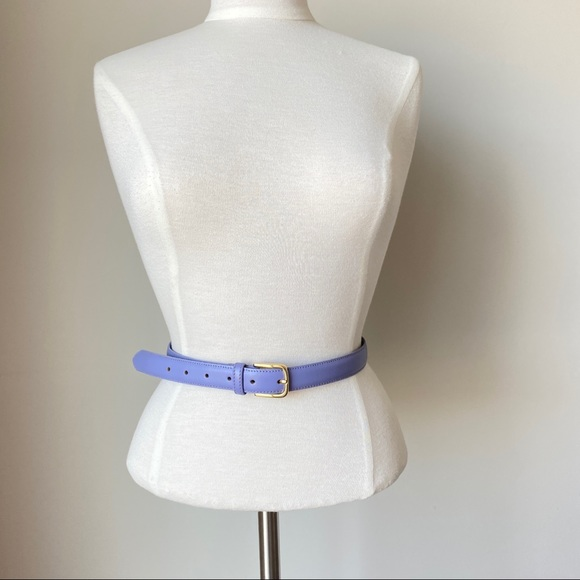 American Apparel Lilac Purple Leather Belt XS